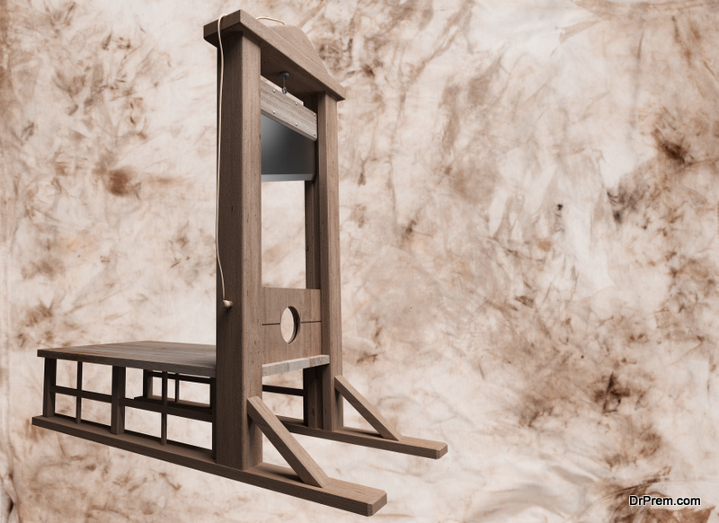 homemade guillotine