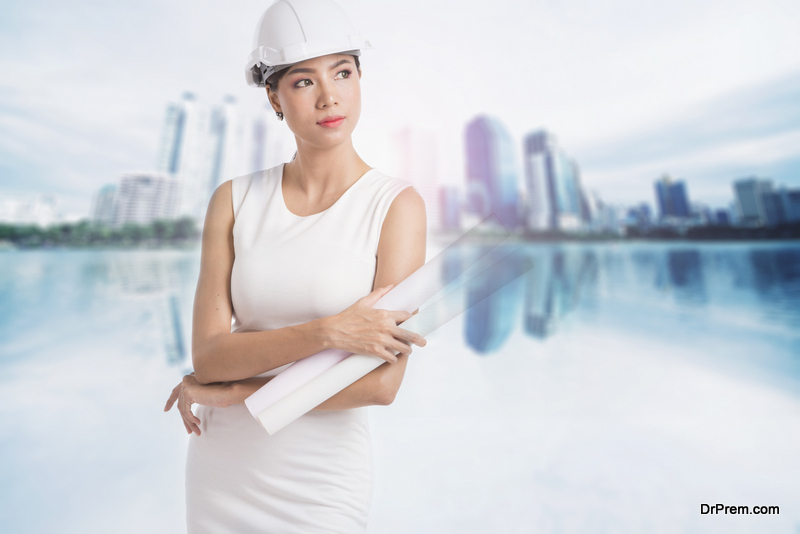 women thinking of careers in construction