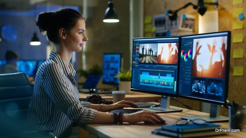 woman video creator
